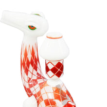 Load image into Gallery viewer, Elbo glass  Slinger glass - Argyle Dino - Red and white rig
