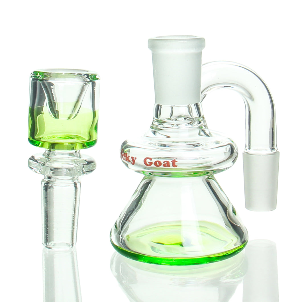 Lucky Goat - 14mm Dry Catcher with Bowl - Green