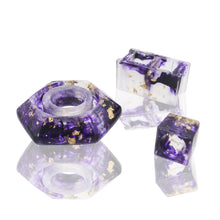 Load image into Gallery viewer, Blast Sheelds - Base, Knob, & Cap Holder Set - Purple & Gold Flake