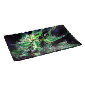 V Syndicate - Medium Glass Rolling Tray - Blue Dream