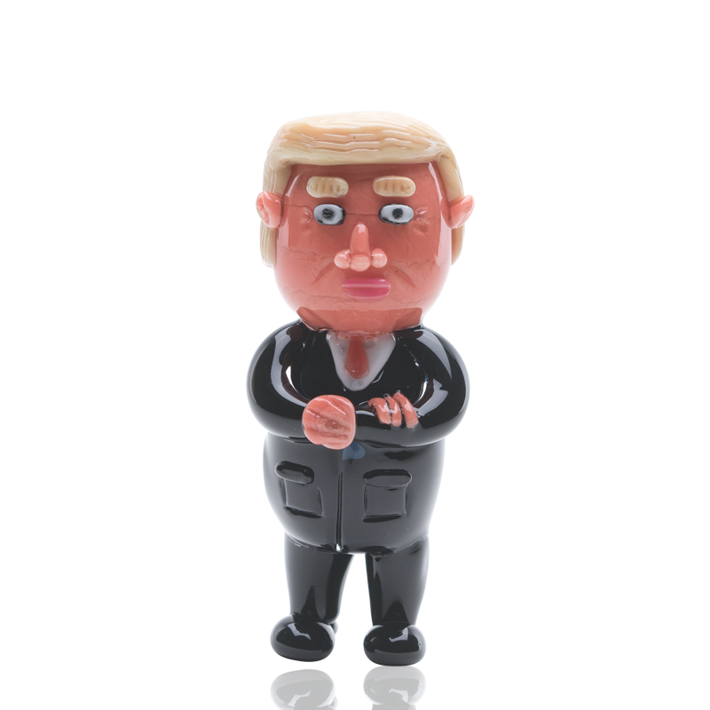 Empire Glassworks - Agent Orange Donald Trump Pipe