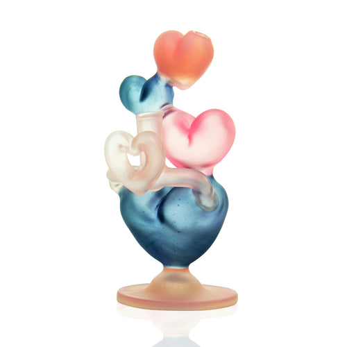 Reyna Glass - Heart Stack Bubbler - CFL
