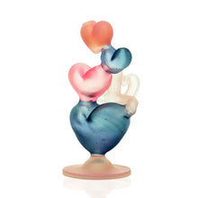 Load image into Gallery viewer, Reyna Glass - Heart Stack Bubbler - CFL
