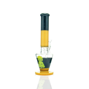 "AFM -  13"" Upside Down Beaker - Butterscotch & Black"