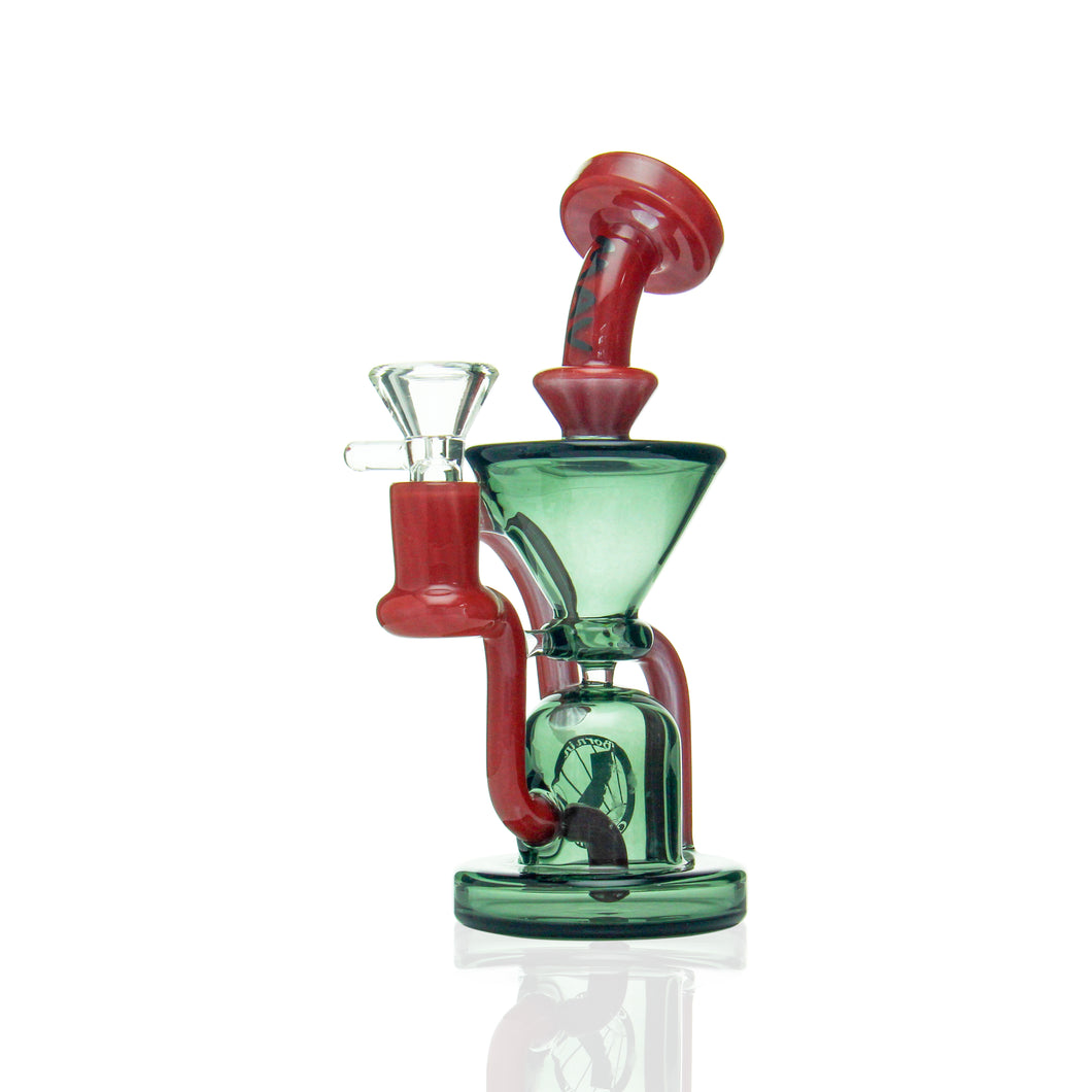 MAV - Mini Humboldt Klein Recycler - Red & Transparent Black