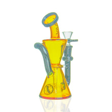 Load image into Gallery viewer, MAV Glass - Mini Hourglass Recycler - Amber & Black