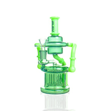 Load image into Gallery viewer, MAV Glass - Dual Uptake Recycler - Green & Slyme