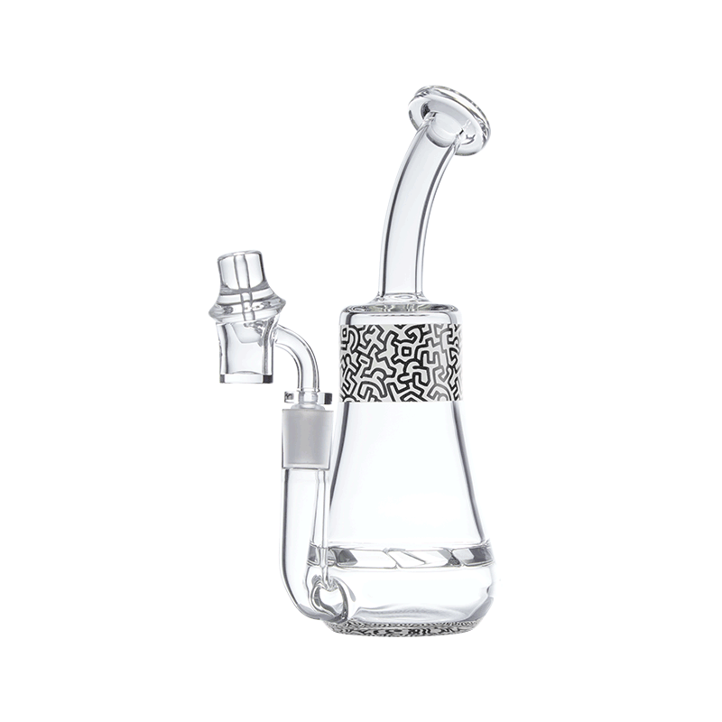 Keith Haring Glass - Concentrate Rig - Black And White