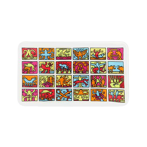 Keith Haring Glass - Rolling Tray - Multi Colored