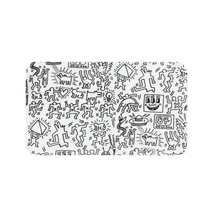 Keith Haring Glass - Rolling Tray - Black And White