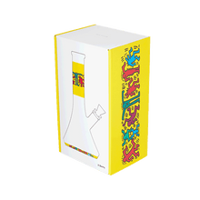 Load image into Gallery viewer, Keith Haring Glass - Water Pipe - Multi Yellow