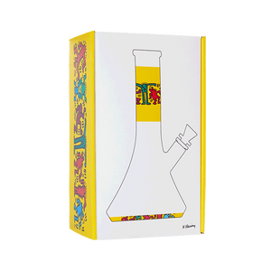 Keith Haring Glass - Water Pipe - Multi Yellow