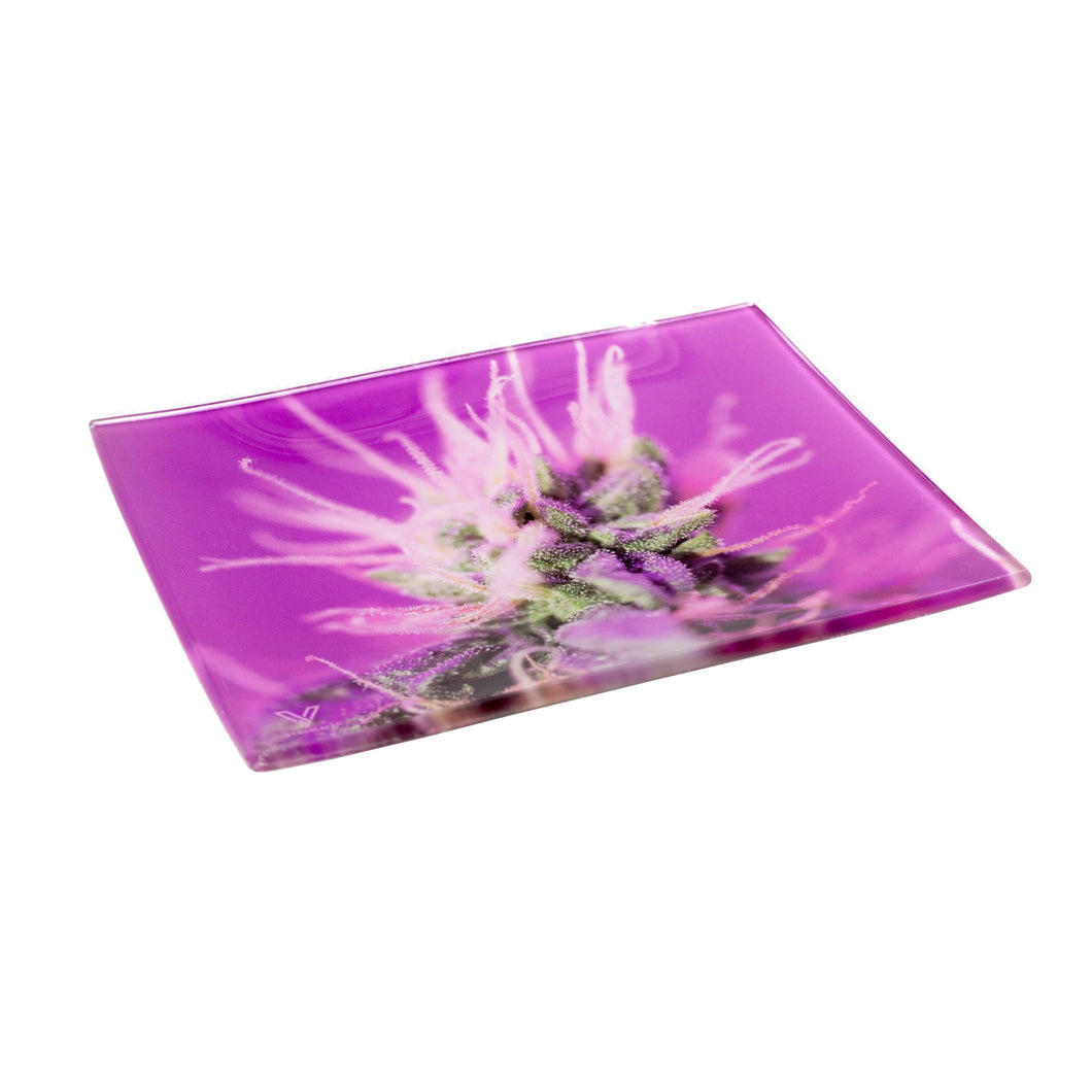 V Syndicate - Small Glass Rolling Tray - Pink Lemonade