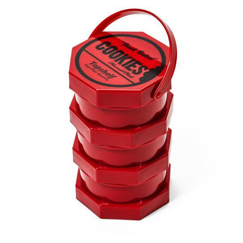Cookies SF Medium Stack-able Jar - Red