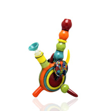 "Load image into Gallery viewer, T-Funk Glass x Alejandro Glass - 7"" Oddaalleey Rainbow Mini Tube"