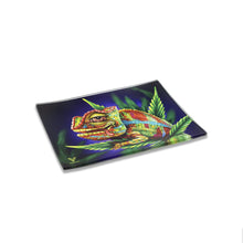 Load image into Gallery viewer, V Syndicate - Small Glass Rolling Tray - Cloud 9 Chameleon