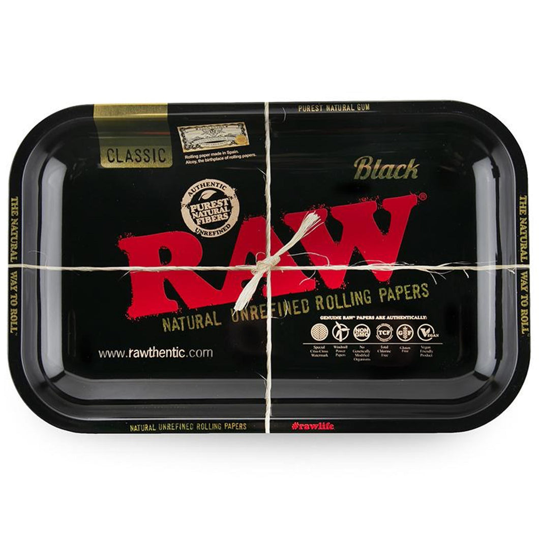 RAW Small Rolling Tray - Black