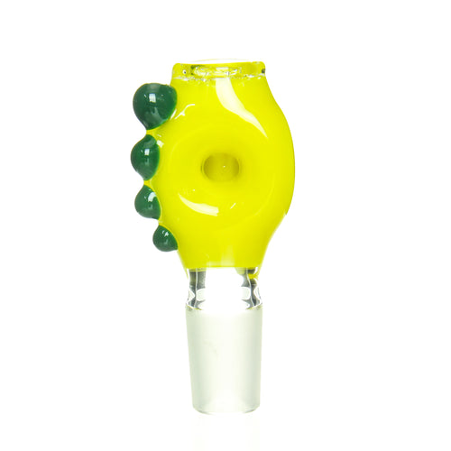 Ben Wilson - 18mm Triple Donut Disc Screen Slide - Canary with Green