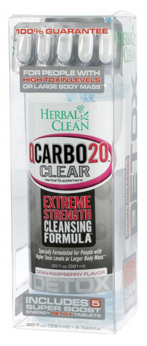 Herbal Clean - Qcarbo20 - Cran-Raspberry