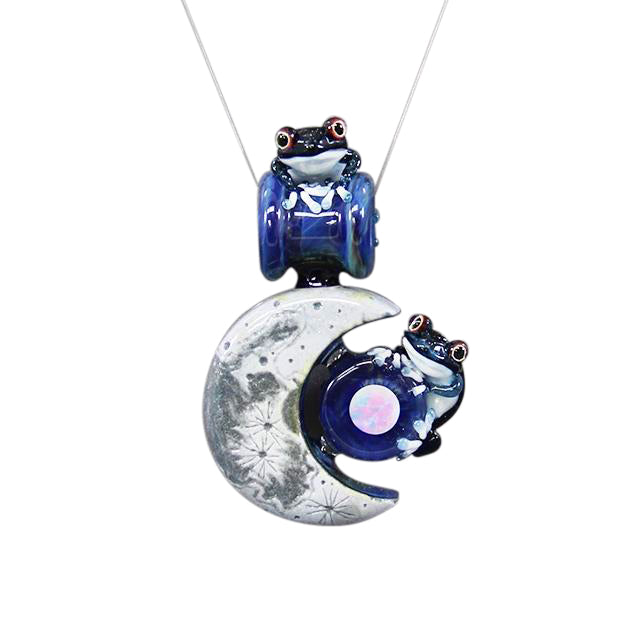 Sagan x  Kengtaro - Frog On The Moon Pendant