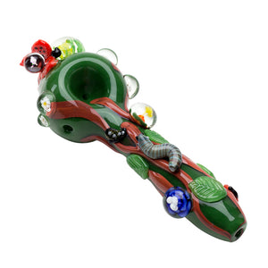 Empire Glassworks - Garden Critters Pipe