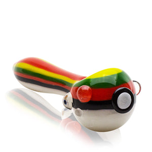 Empire Glassworks - Pokeball Pipe - Rasta