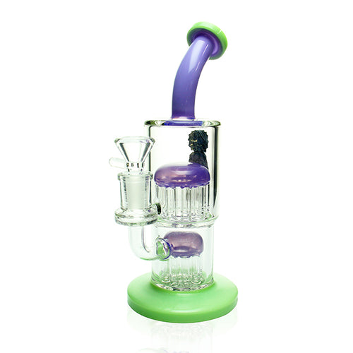 AFM Glass 9-11 Tree Arm Rig Purple & Slyme