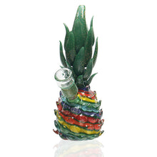 Load image into Gallery viewer, Mr Gray Glass - Rainbow Pineapple Bubbler