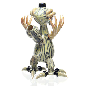 Niko Cray glass x Gemini Andy glass - Woodgrain Birdo rig bong