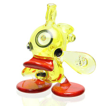 Load image into Gallery viewer, Ryno Glass - Lemon Drop Ducky Bubbler pendant