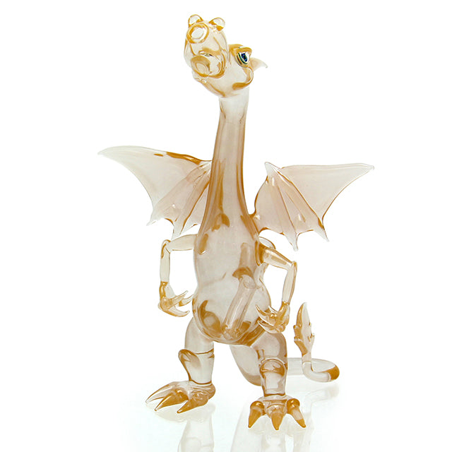 Hendy Glass - Charizard Bubbler - Peach