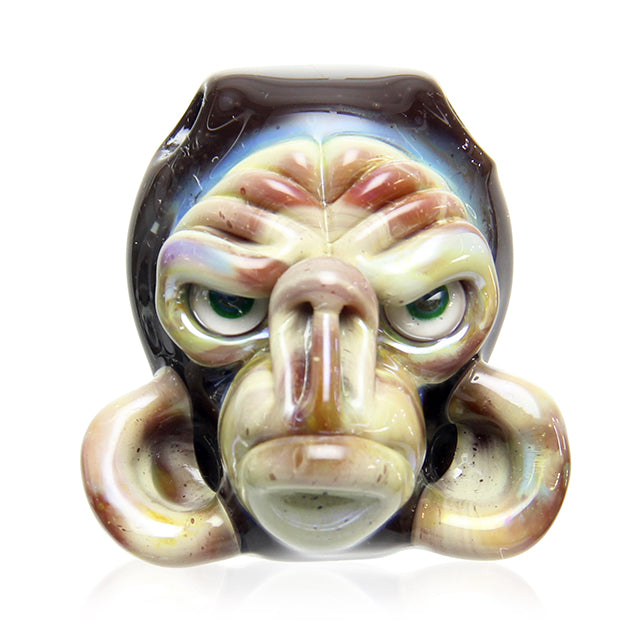 Coyle Condenser Glass Monkey Head Pendant - Brown