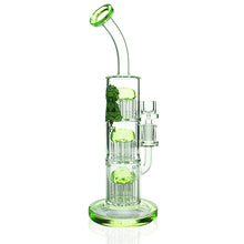 "Load image into Gallery viewer, AFM - 12"" 9 - 9 - 9 Tree Arm Perc Rig - Green"