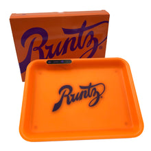 Load image into Gallery viewer, Glow Tray x Runtz Rolling Tray - Orange