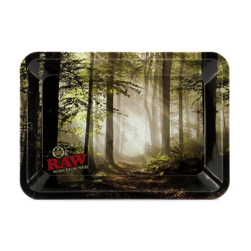 RAW Mini Rolling Tray - Smokey Forest