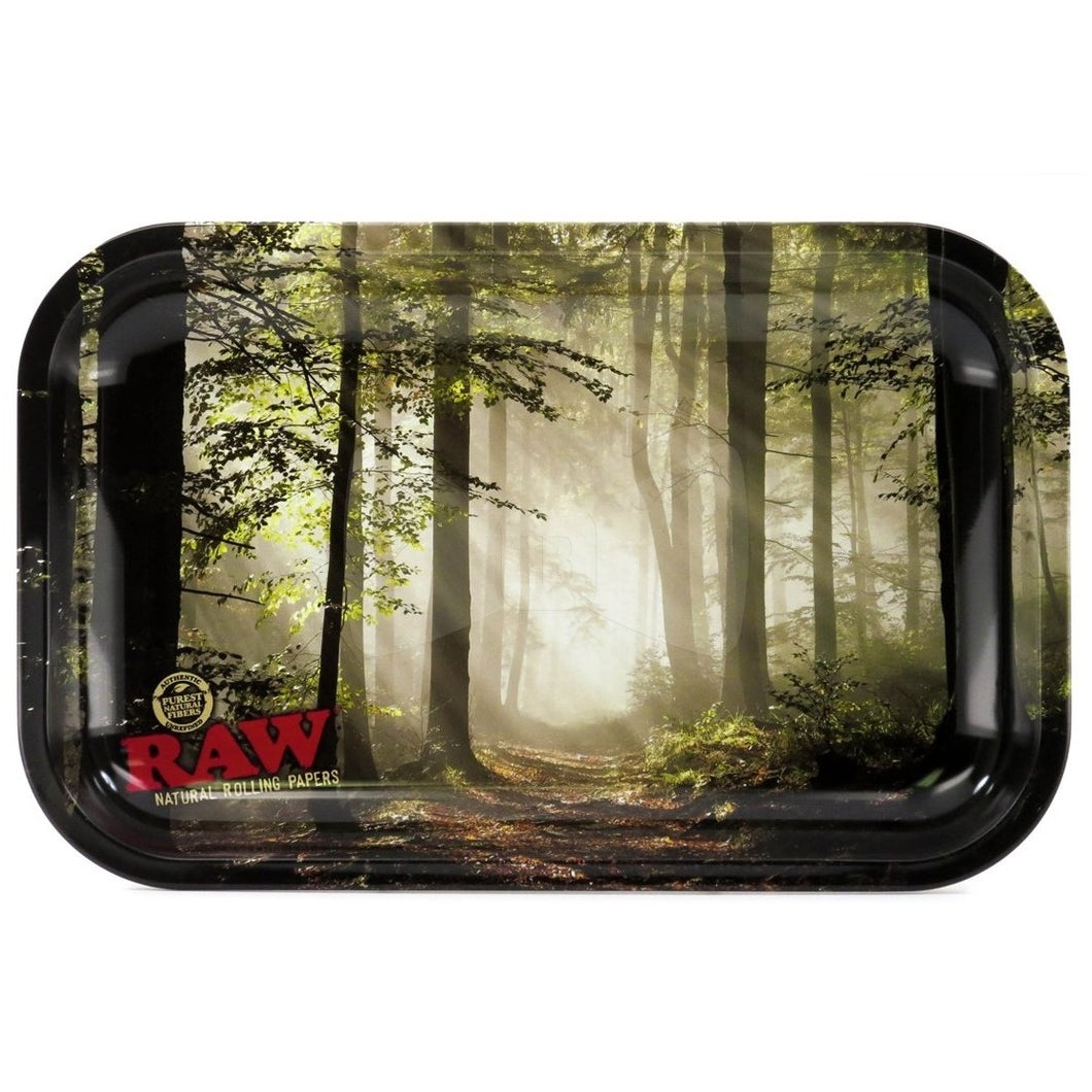 RAW Small Rolling Tray - Smokey Forest