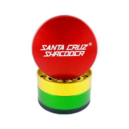 Santa Cruz Shredder - 4 Piece Large Grinder - Rasta