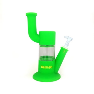 "Waxmaid - 9"" Robo Silicone Water Pipe - Green"