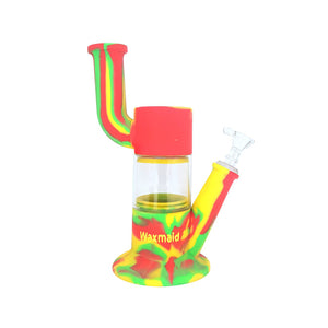 "Waxmaid - 9"" Robo Silicone Water Pipe - Rasta"