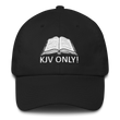 Load image into Gallery viewer, American Patriots Apparel Adjustable Strap Hat Black KJV Only! (WHITE TEXT) Psalm 12:6-7 (WHITE TEXT) Adjustable Strap Hat (6 Variants)