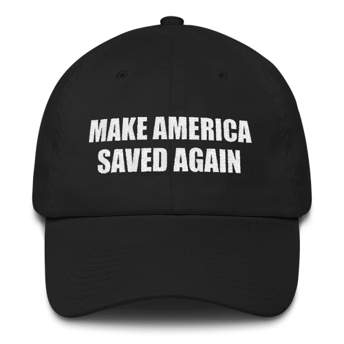 American Patriots Apparel Adjustable Strap Hat Black Make America Saved Again God Bless America Adjustable Strap Hat (5 Variants)