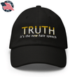 Load image into Gallery viewer, American Patriots Apparel Adjustable Strap Hat Black TRUTH It's The New Hate Speech White & Yellow Text Adjustable Strap Hat (7 Variants)