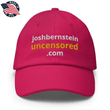 Load image into Gallery viewer, American Patriots Apparel Adjustable Strap Hat Bright Pink / OSFA joshbernsteinuncensored.com TRUTH White & Yellow Text Adjustable Strap Hat (7 Variants)