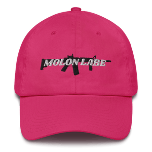 American Patriots Apparel Adjustable Strap Hat Bright Pink / OSFA Molon Labe AR-15 Pew Pew Adjustable Strap Hat (7 Variants)