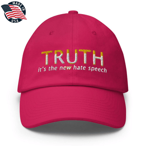 American Patriots Apparel Adjustable Strap Hat Bright Pink TRUTH It's The New Hate Speech White & Yellow Text Adjustable Strap Hat (7 Variants)