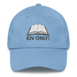 Load image into Gallery viewer, American Patriots Apparel Adjustable Strap Hat Carolina Blue KJV Only! (BLACK TEXT) Psalm 12:6-7 (WHITE TEXT) Adjustable Strap Hat (4 Variants)