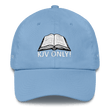 Load image into Gallery viewer, American Patriots Apparel Adjustable Strap Hat Carolina Blue KJV Only! (WHITE TEXT) Multiple Bible Verses (WHITE TEXT) Adjustable Strap Hat (6 Variants)
