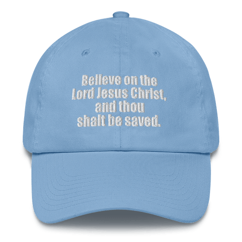 American Patriots Apparel Adjustable Strap Hat Carolina Blue / OSFA Acts 16:31 Scripture Adjustable Strap Hat (6 Variants)