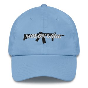 American Patriots Apparel Adjustable Strap Hat Carolina Blue / OSFA Molon Labe AR-15 Pew Pew Adjustable Strap Hat (7 Variants)