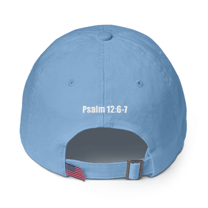 American Patriots Apparel Adjustable Strap Hat KJV Only! (BLACK TEXT) Psalm 12:6-7 (WHITE TEXT) Adjustable Strap Hat (4 Variants)